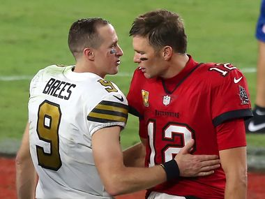 New Orleans Saints QB Drew Brees and Tampa Bay QB Tom Brady face off this weekend in the NFL playoffs.