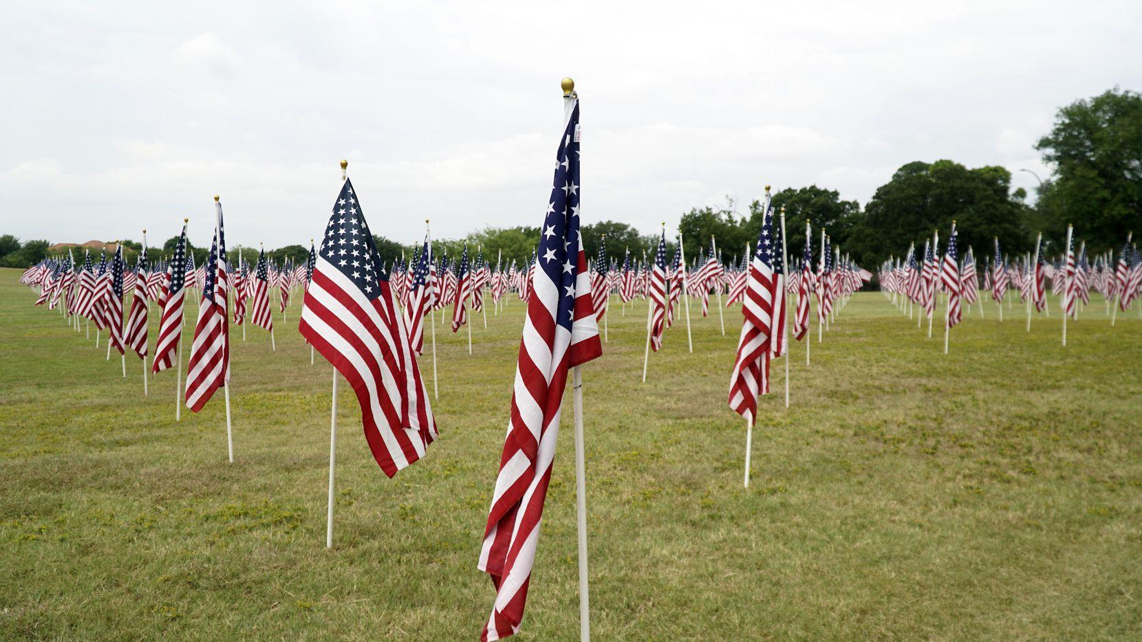 911 Memorial at Veterans Park in Arlington, Texas on Sunday, September 5, 2021