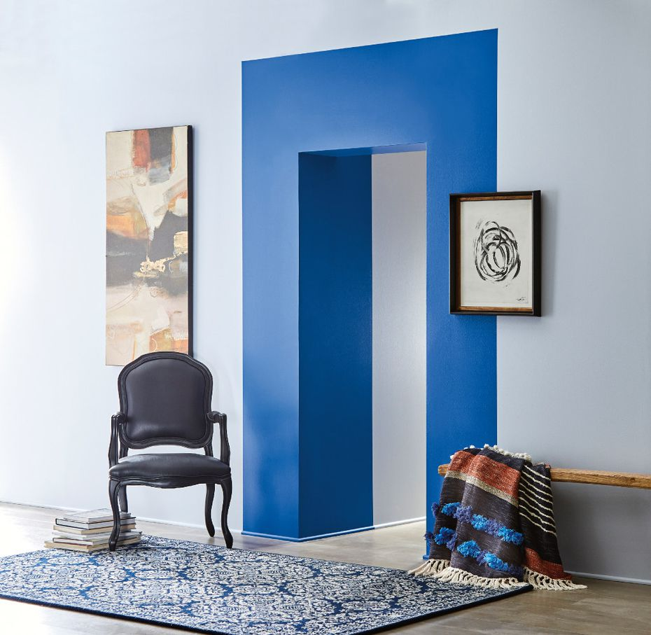 A vivid ultramarine is one of 12 colors presented by Valspar Paint as part of the company's collection of 12 Colors of the Year 2017. The blue is available under several names at retailers nationwide.