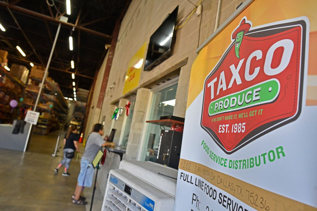 Signage inside Taxco Produce in Dallas on Thursday, Aug. 15, 2019.