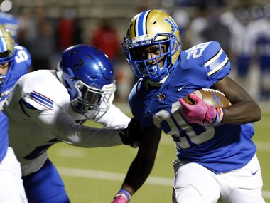 Garland Lakeview running back Zechariah Dunston ran for 200 yards and four touchdowns in Friday's 49-19 win over South Garland.