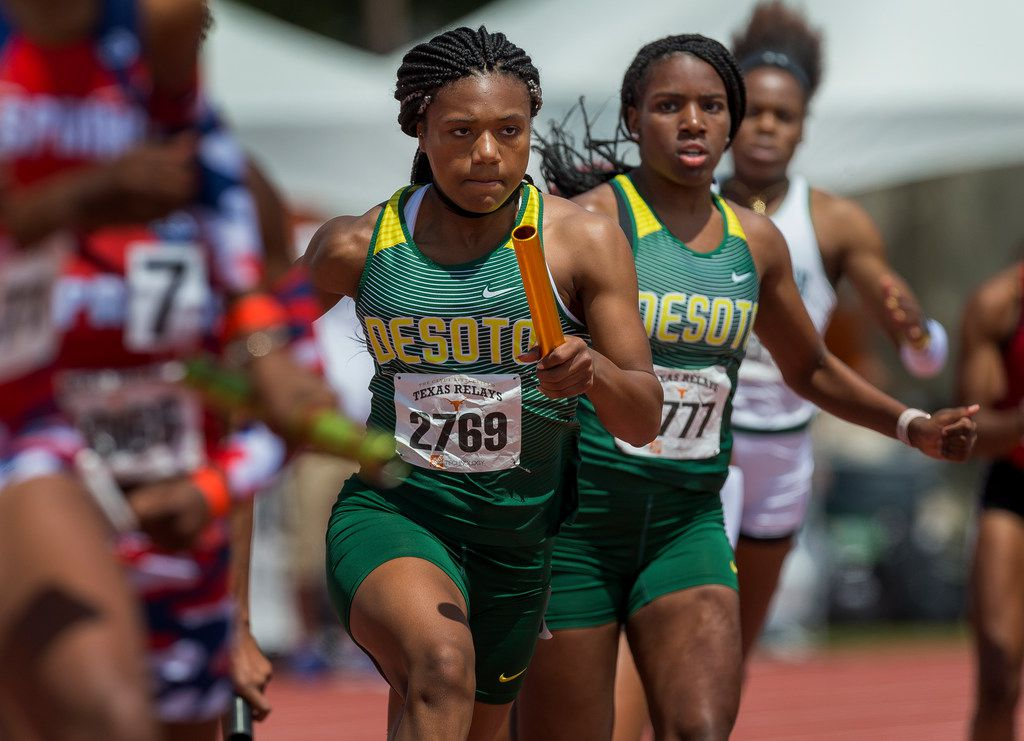 DeSoto's Ja'Era Griffin (2769) is among the many nationally ranked athletes scheduled to compete at the Jesuit-Sheaner Relays this weekend. (Stephen Spillman/Special Contributor)