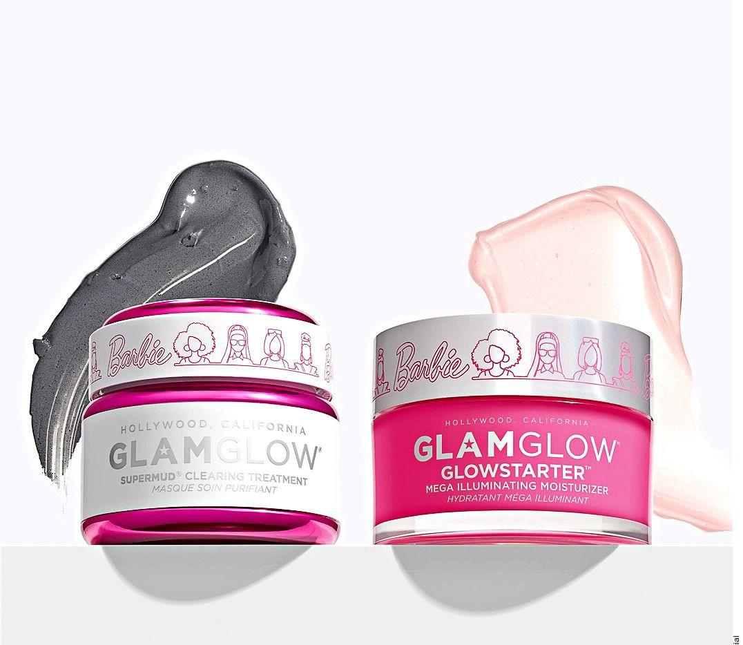 GlamGlow colabora con Barbie para crear una mascarilla facial de barro que limpia visiblemente el cutis al instante.