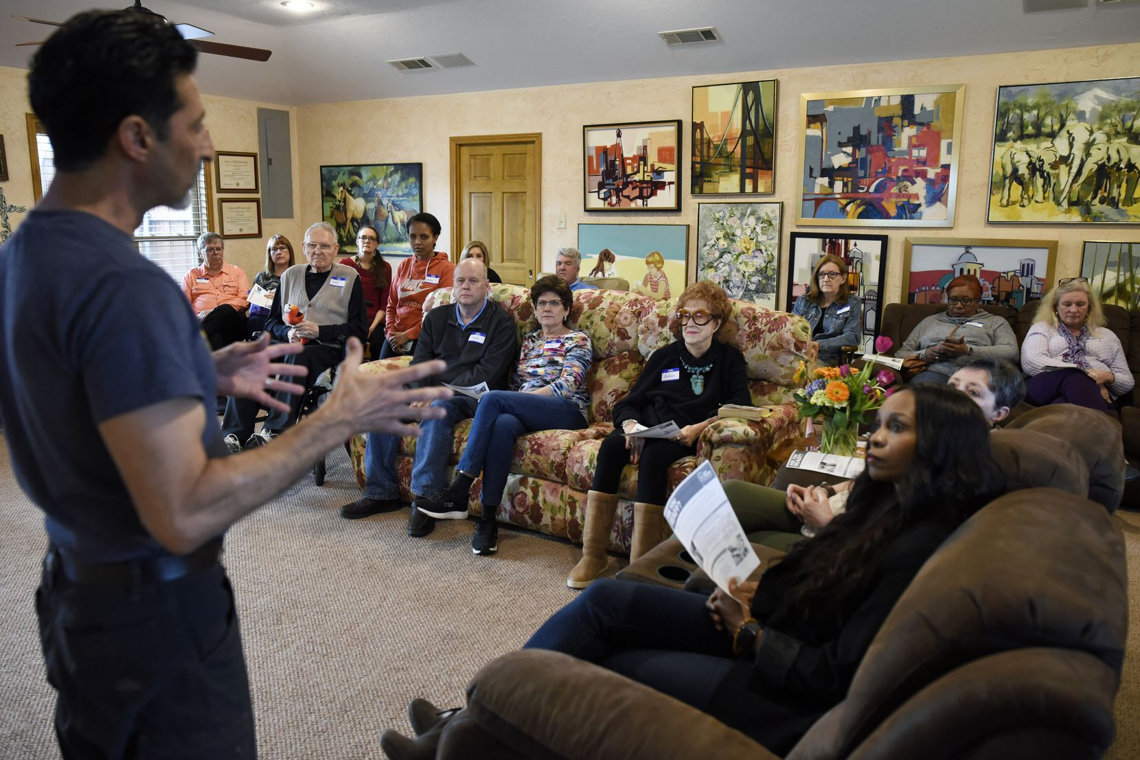 Two dozen guests gathered at the Doyle home to hear vascular surgeon Dr. Rizwan H. Bukhari speak about the link between diet and health. The event was earlier this year, before social distancing rules.