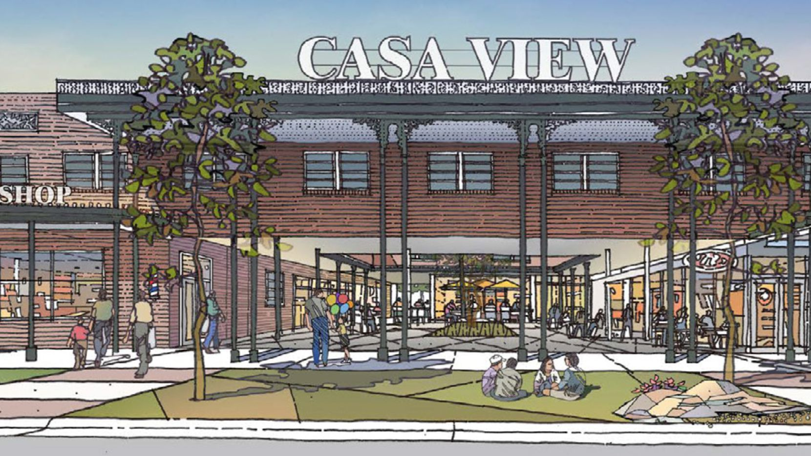 """Casa View Village was built in what was originally called a """"New Orleans style"""" of architecture."""