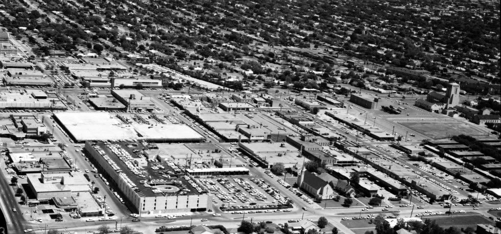A 1965 aerial photo of Preston Center, when it was hailed as a haven for parking and easy access.