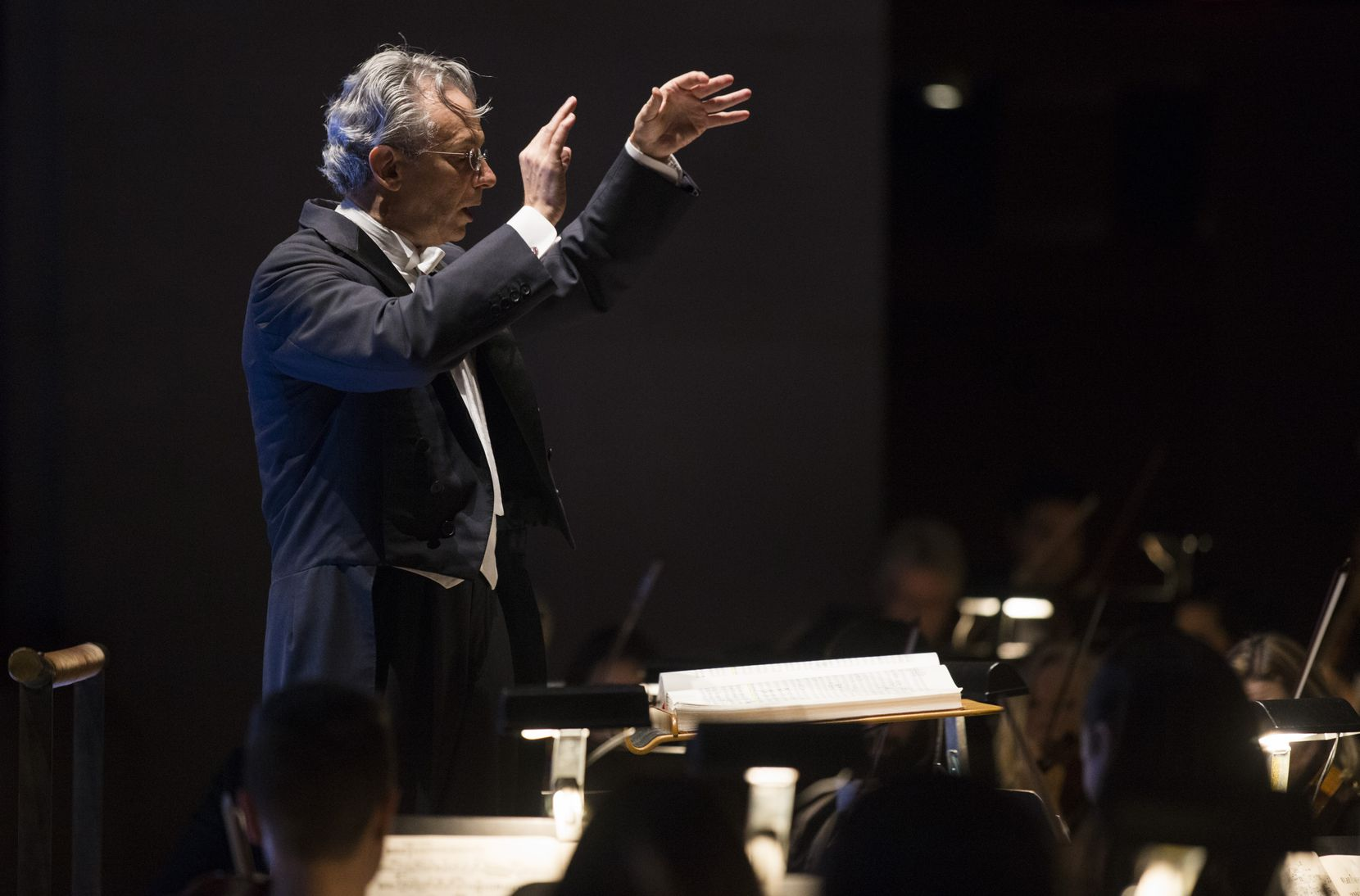 "Fabio Luisi conducts the Dallas Symphony Orchestra's performance of Strauss' ""Salome"" on Friday, January 31, 2020, at the Meyerson Symphony Center in Dallas."