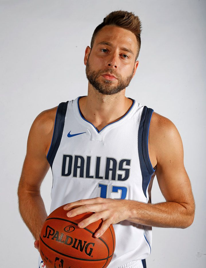 Mavericks forward/center Josh McRoberts poses for a photograph during the media day at American Airlines Center in Dallas, Monday, Sept. 25, 2017. (Jae S. Lee/The Dallas Morning News)