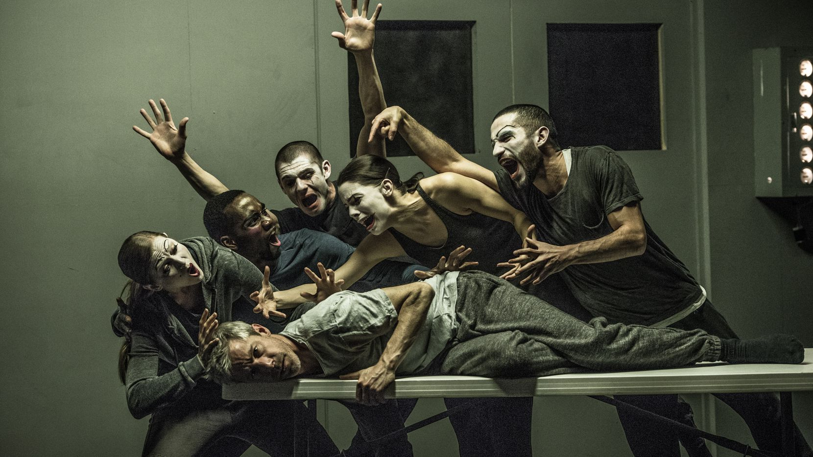 The tragic tale 'Betroffenheit' is a collaboration between Kidd Pivot and the Electric Company Theatre, shown here in a dress rehearsal at the Dallas City Performance Hall in Dallas in 2016, presented by TITAS.
