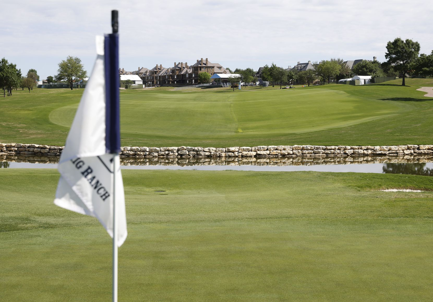 Hole no. 18 at TPC Craig Ranch on Wednesday, May 6, 2021in McKinney, Texas. (Vernon Bryant/The Dallas Morning News)