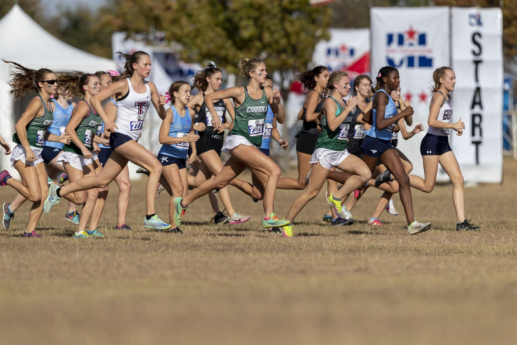 Southlake Carroll begins the girls UIL Class 6A state cross country meet in Round Rock, Tuesday, Nov., 24, 2020. (Stephen Spillman/Special Contributor)