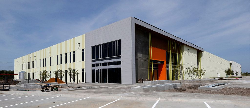 The exterior of the new North Texas Food Bank Perot Family Campus in Plano.