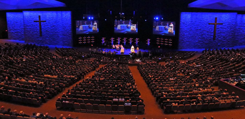 Hundreds of law enforcement officers attended the funeral of Dallas Officer Rogelio Santander at Lake Pointe Church in Rockwall.