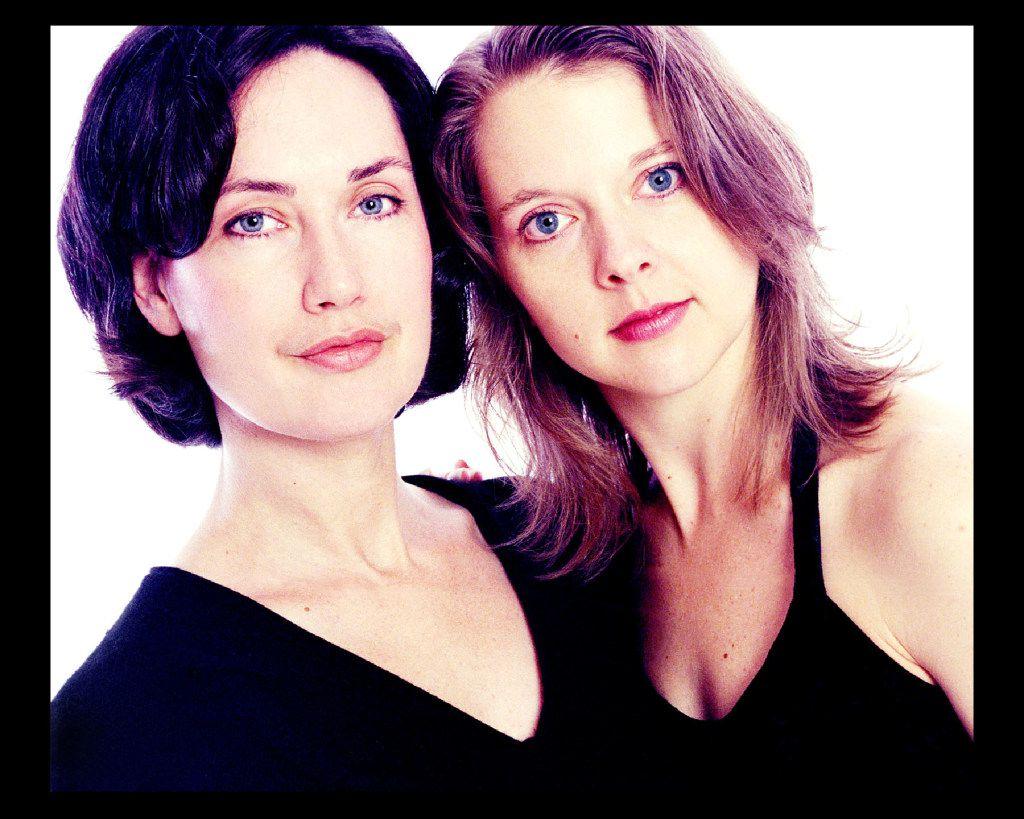 Elledanceworks artistic directors Michele Hanlon, left, and Ronelle Eddings during the company's fourth season, 2000-01.