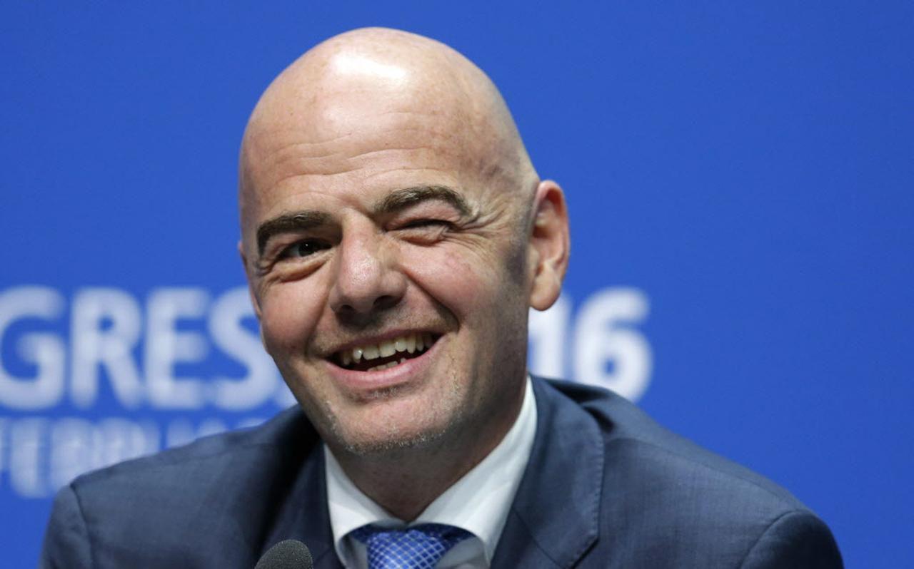 El suizo Gianni Infantino ganó el viernes la presidencia de la FIFA. (AP/MICHAEL PROBST)