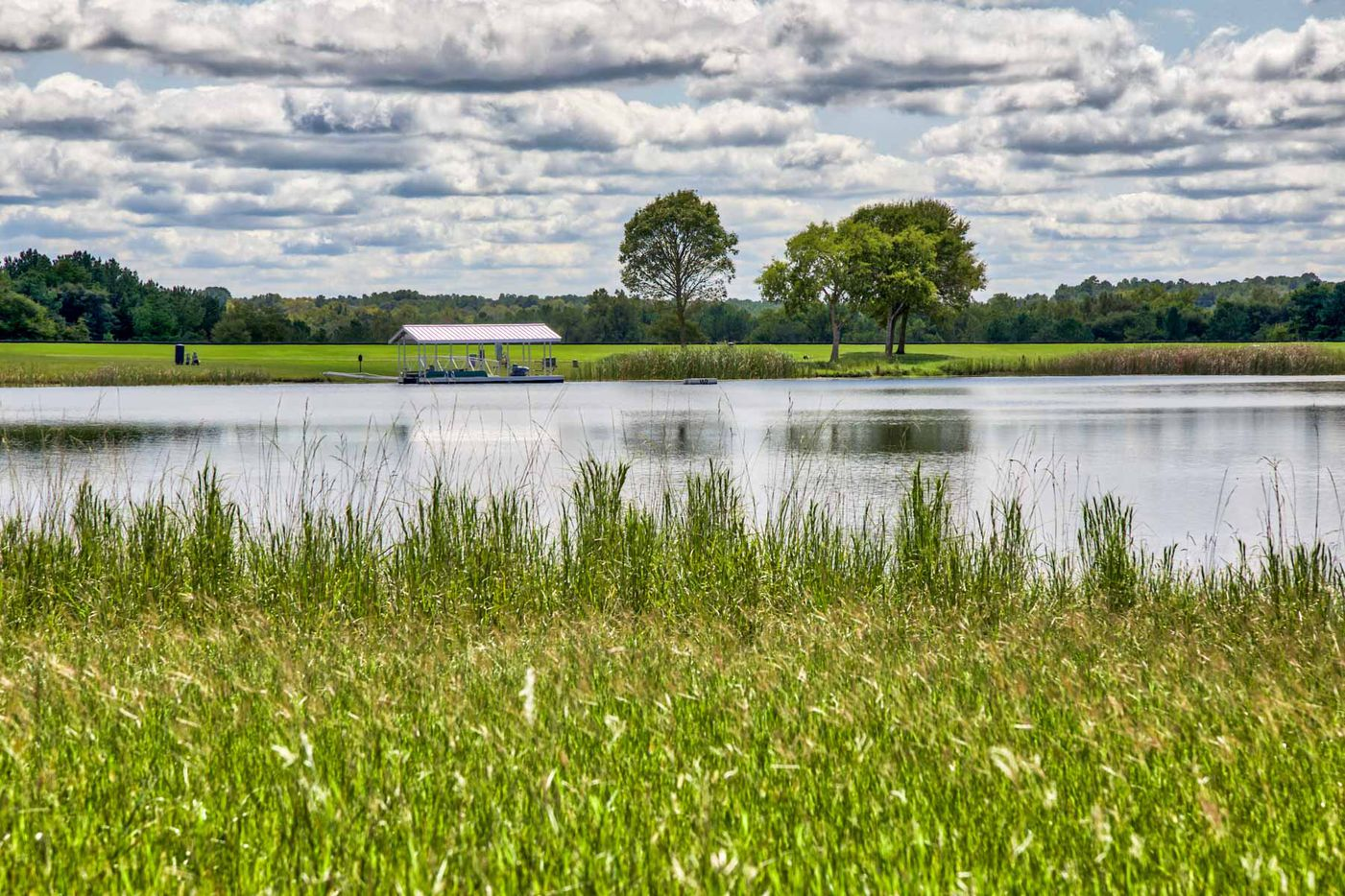 Whitehall Ranch has an eight-acre lake.