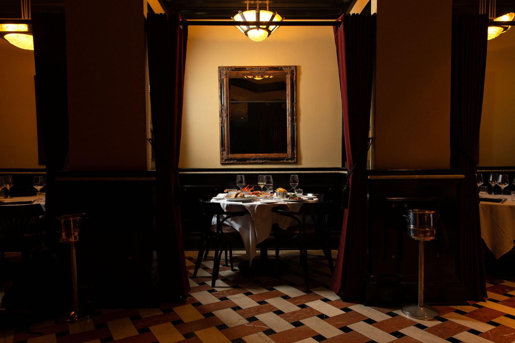 The alcoves in the back of Dakota's Steakhouse are some of the most sought-after seats. The restaurant reopened Sept. 13, 2021 after closing during the coronavirus pandemic.