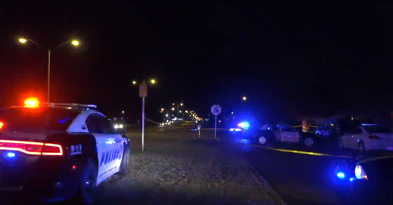 Dallas police responded Jan. 4 to the scene of a shooting at the intersection of Fair Vista Drive and Military Parkway.