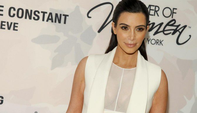 Kim Kardashian partició en un foro sobre el poder de las mujeres. (AP/ANDY KROPA)
