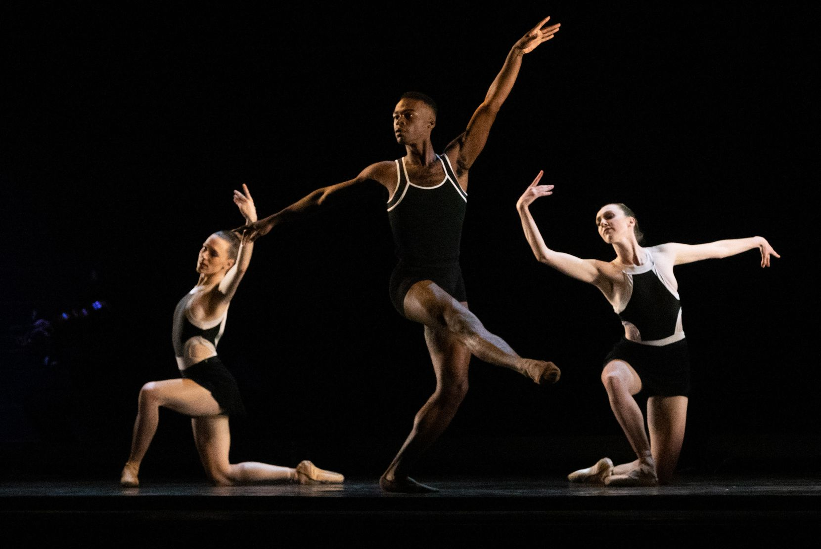 """Avant Chamber Ballet performs """"Schema"""" during """"Together We Dance"""" at Annette Strauss Square on Friday, March 26, 2021."""