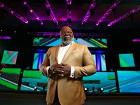 Bishop T.D. Jakes in the sanctuary at The Potter's House in Dallas on June 16, 2017.