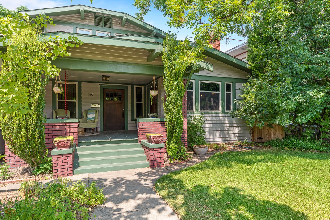 A look at 719 N. Bishop Avenue in Dallas, one of the houses on the 2019 Heritage Oak Cliff Home Tour.