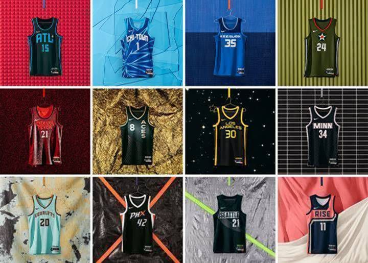 A look at some of the new uniforms around the WNBA.