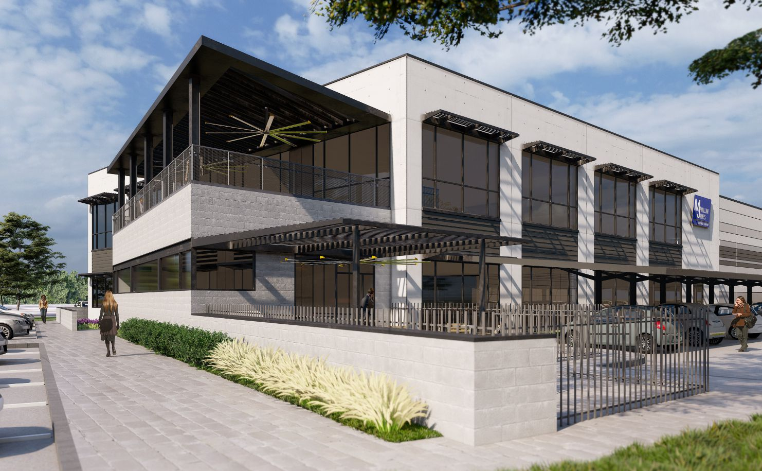 McMillan James Equipment Co. is building a new office and warehouse in Grapevine.