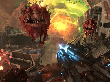 A screenshot from 'Doom Eternal,' from Richardson-based id Software.