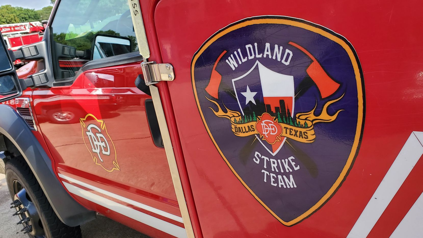 Thirteen firefighters from Dallas Fire-Rescue's wildland strike team headed to California on Friday.