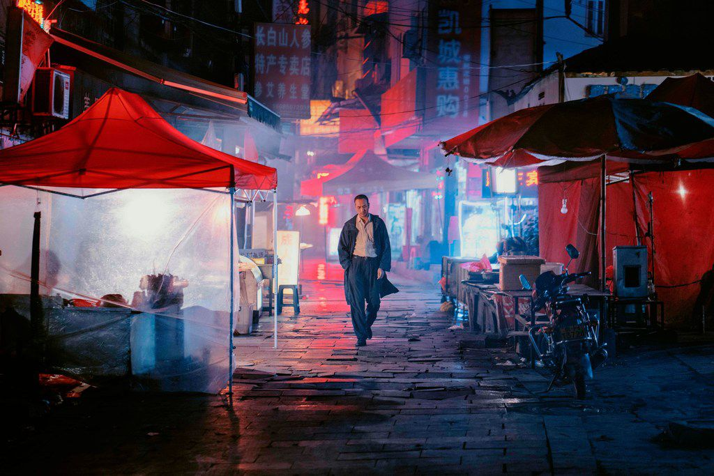 Jue Huang in a scene from Long Day's Journey Into Night. Photo by Bai Linghai, courtesy Kino Lorber.