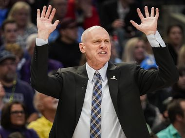 Dallas Mavericks head coach Rick Carlisle reacts after being called for a technical foul during the first half of an NBA basketball game against the Los Angeles Lakers at American Airlines Center on Friday, Jan. 10, 2020, in Dallas.