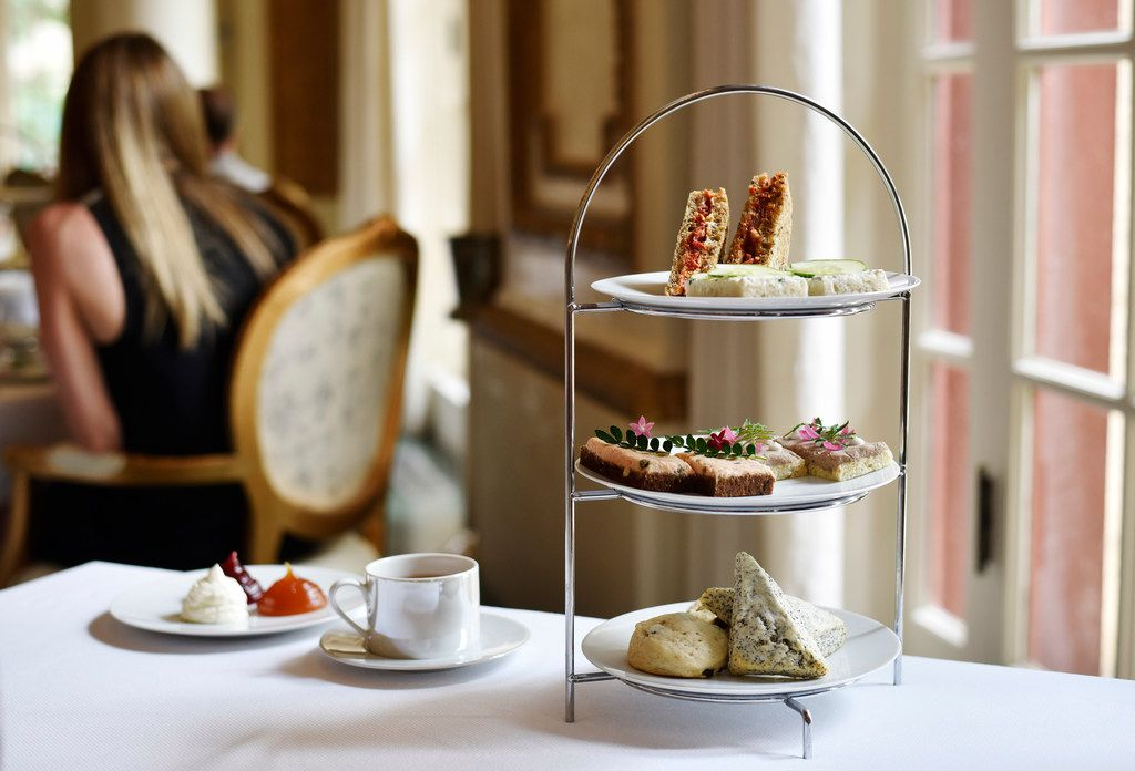 Tea sandwiches, scones and tea at the French Room at the Adolphus Hotel in Dallas.