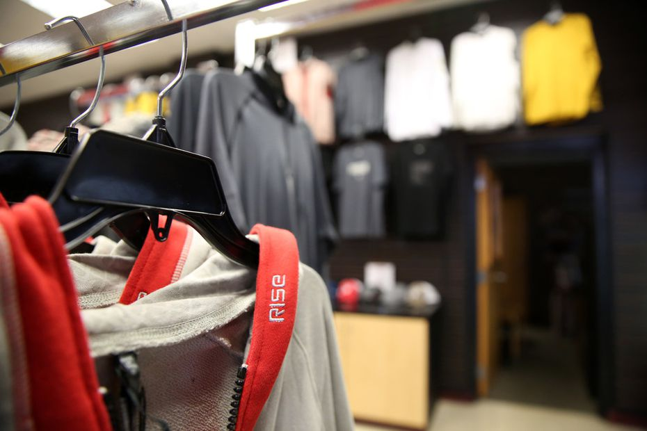The RISE clothing store at the Duncanville Fieldhouse is owned by brothers Tim Maiden and Terrence Maiden, who give 11 percent of the proceeds to charitable organizations.