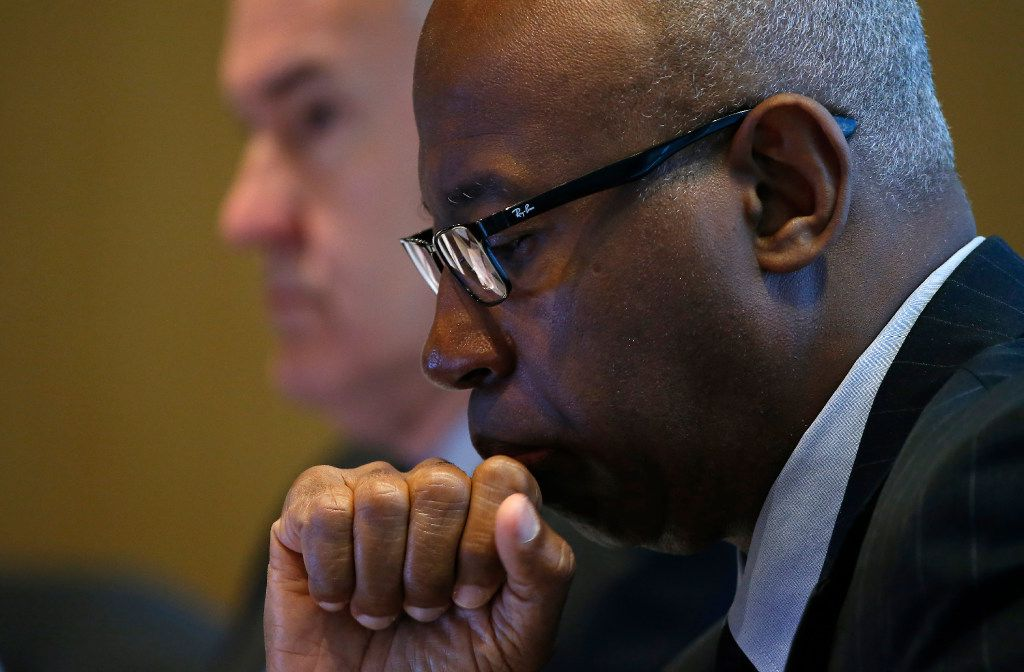 Sam Friar chairs the Dallas Police and Fire Pension, which faces billions in unfunded liabilities . (Jae S. Lee/The Dallas Morning News)