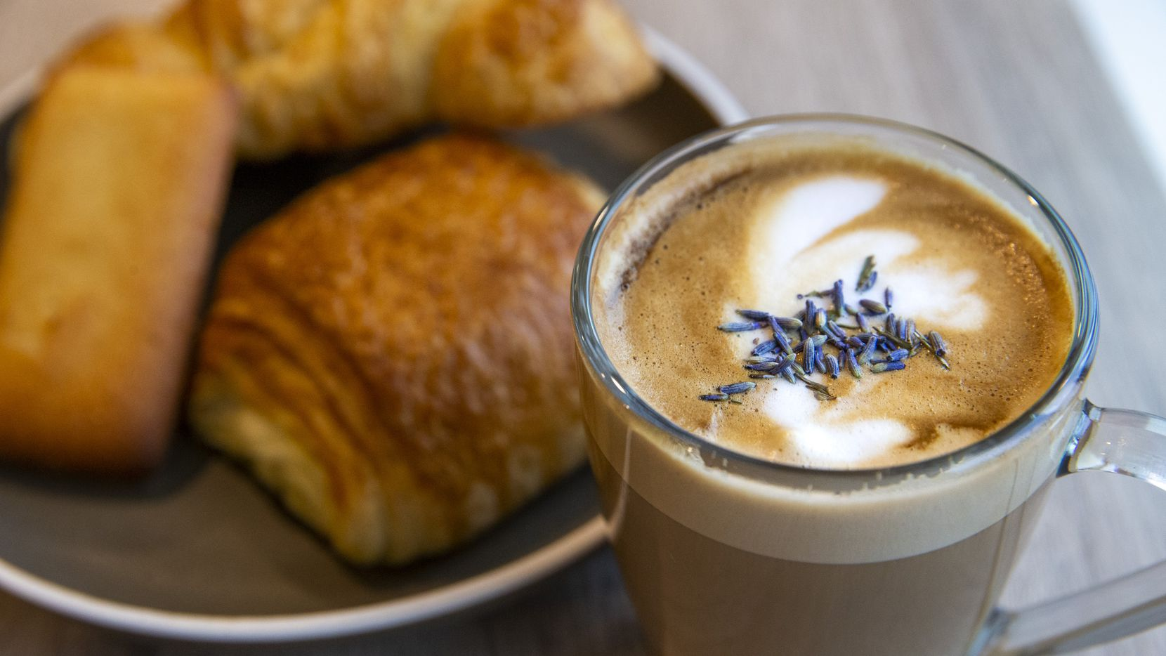 The Lucy Latte is made with goat milk and lavender at The Coffee Shop at Bonton Farms in South Dallas.