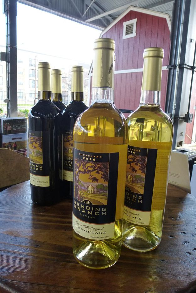 Bending Branch Winery from Comfort included its 2015 Newsom Vineyards Cabernet Sauvignon and Comfortage roussanne at the Dallas Farmers Market Texas Wine & Cheese Tasting.