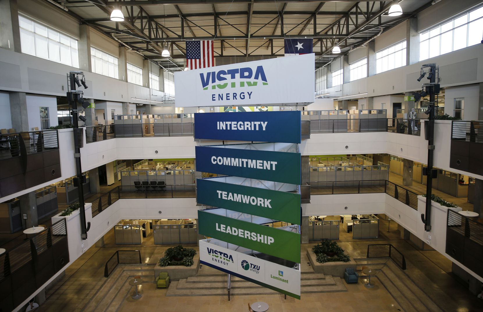 Vistra Corp. has about 5,400 employees, and up to 40% can work remotely. Others must be on-site at over 50 power plants in Texas, Illinois, Ohio and several other states.