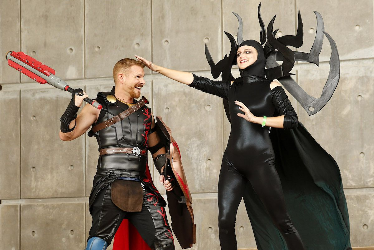 Cosplayers dressed as Thor and Hela pose during Dallas Fan Days 2017. This year's festival is Oct. 18-20.
