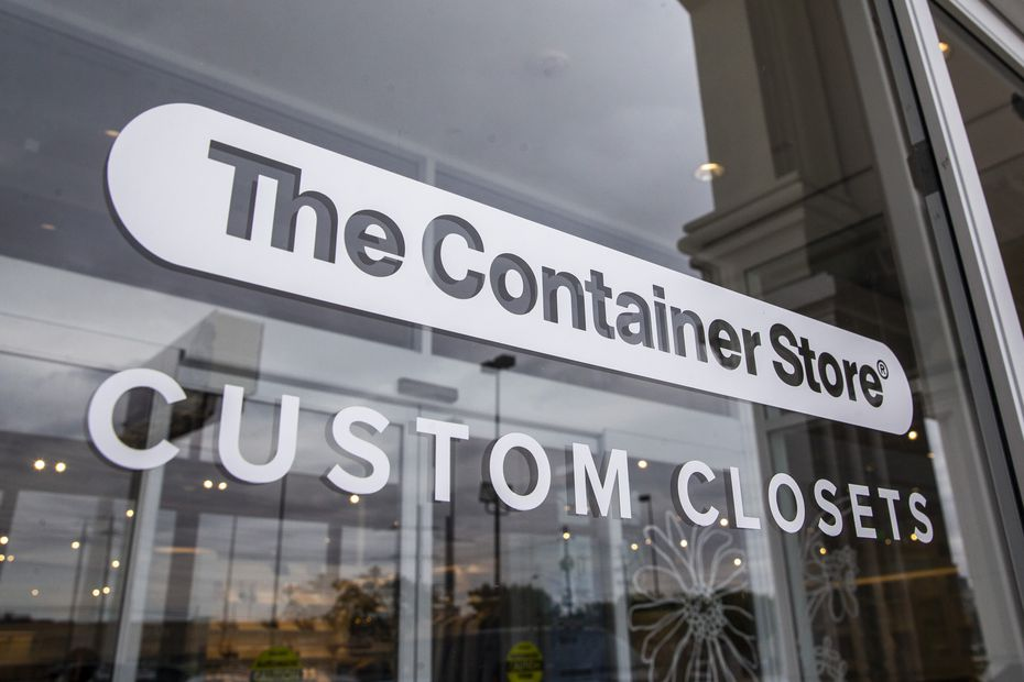 The Container Store in Far North Dallas opened last year with full displays of several new styles of custom closets.