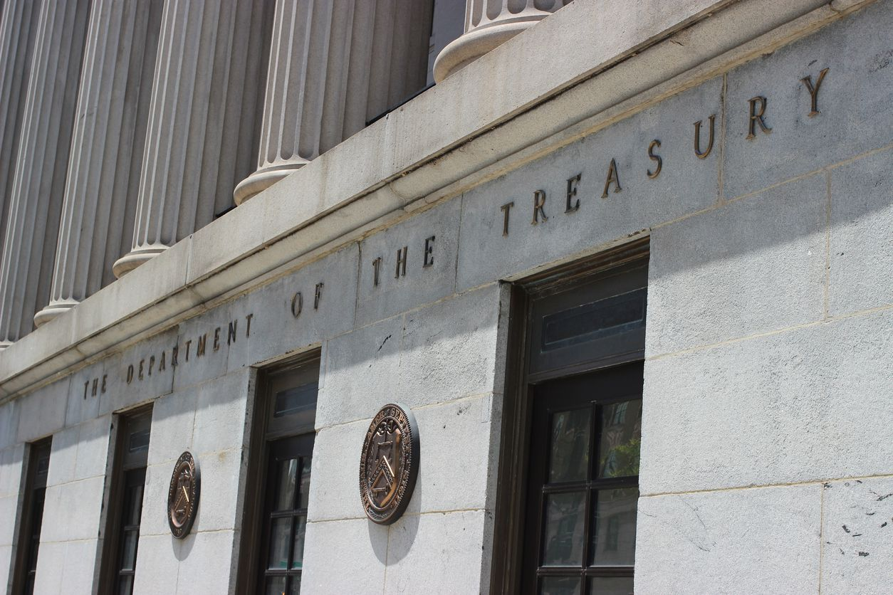 U.S. Department of the Treasury in Washington D.C.