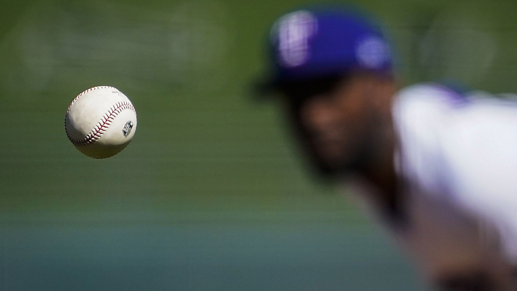 Texas Rangers pitcher Taylor Hearn pitches during the first inning of a spring training game against the Kansas City Royals at Surprise Stadium on Tuesday, Feb. 25, 2020, in Surprise, Ariz.