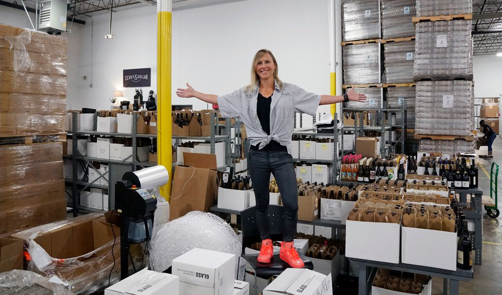 Scout and Cellar founder Sarah Shadonix at her warehouse in Farmers Branch.