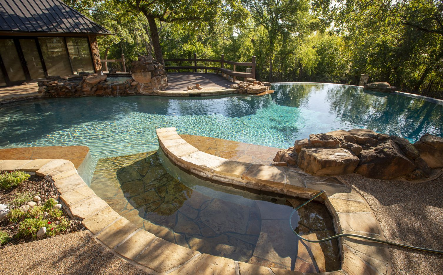 Pool at main house at 5101 Kensington Ct., in Flower Mound, Texas on August 19, 2020. (Robert W. Hart/Special Contributor)