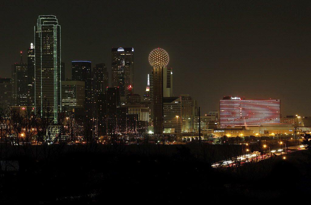 Dallas skyline - night - reunion tower - omni hotel - bank of america - belo building   08132012xASAEconventionspecial 01052013xNEWS 05082013xBIZ