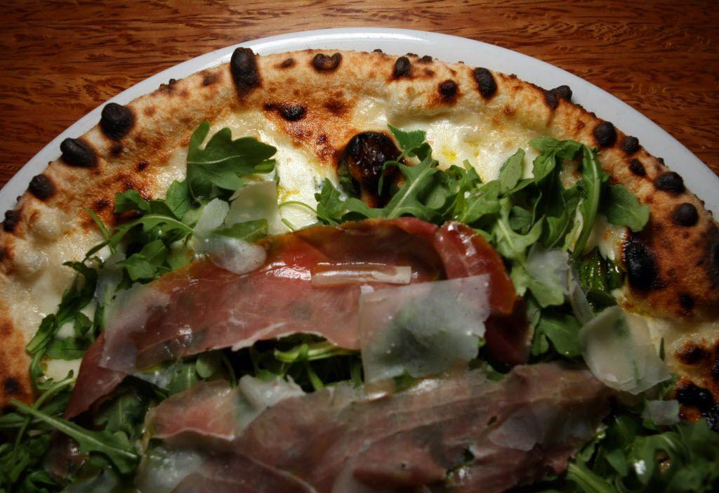 Prosciutto e rucola pizza from Il Cane Rosso on April 07, 2011 in Dallas' Deep Ellum