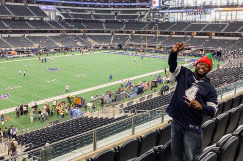 Matthew Nard celebrated his birthday at a Dallas Cowboys game.