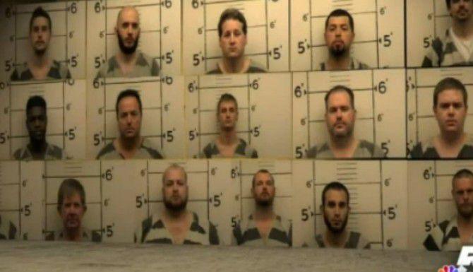 Estos son algunos de los presuntos depredadores sexuales detenidos por agentes encubiertos del condado de Johnson. (Condado de Johnson/CORTESÍA)