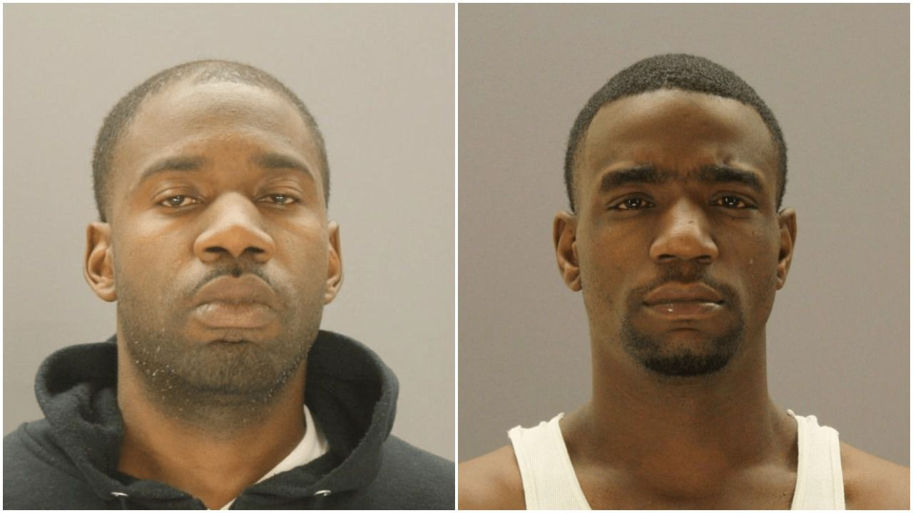 Keith Johnson, 32, left, and Michael Lucky, 29, are suspects in the death of Andre Emmett, Dallas police said.