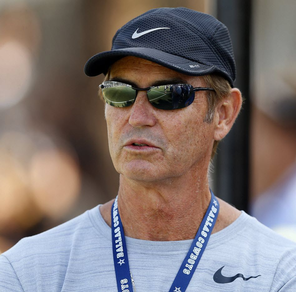 Former Baylor football coach Art Briles attended Dallas Cowboys afternoon practice at training camp in Oxnard, California, Tuesday, August 9, 2016. (Tom Fox/The Dallas Morning News)
